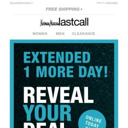 [Last Call] Today ONLY: You need to hurry to REVEAL YOUR DEAL!