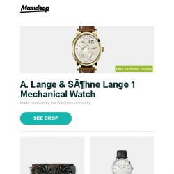 [Massdrop] A. Lange & Söhne Lange 1 Mechanical Watch, Gigabyte GeForce GTX 1060|1070 TI WINDFORCE OC, A. Lange & Söhne Saxonia & Complicated Watches and more...