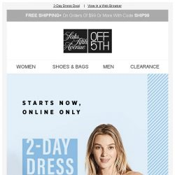 [Saks OFF 5th] No dress stress here: take an EXTRA 20% OFF!