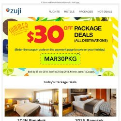 [Zuji] BQ.sg, Get $30 OFF Package Deals
