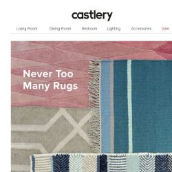[Castlery] Rugs on Clearance.