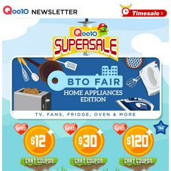 [Qoo10] SUPER SALE IS HERE! $129 Philips Airfryer, $119 Wine Chiller & KitchenAid Baby Food Blender. Click in NOW