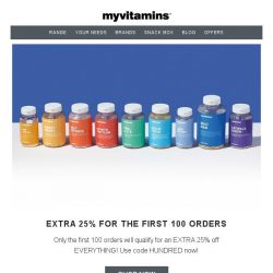 [MyVitamins] Limited Clearance Sale | EXTRA 25% off