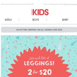 [Cotton On] #OMG get a pair of Leggings FREE when you buy 3!