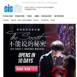 [SISTIC] The Secret opens in only 10 days. Don't miss out!