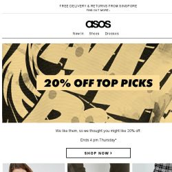 [ASOS] 20% off our faves