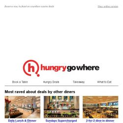 [HungryGoWhere] On The Lookout for Great Dining Deals, ?