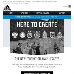 [Adidas] The new Federation Away Jerseys out now!