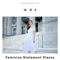 [MDS] Feminine Statement Pieces.