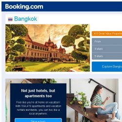 [Booking.com] Deals in Bangkok from S$ 58