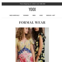 [Yoox] Formal wear: the perfect guest attire