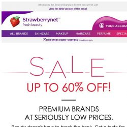 [StrawberryNet] 6 Premium Beauty Brands for a Steal