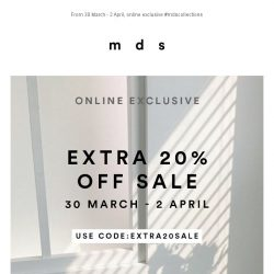 [MDS] Extra 20% off sale.