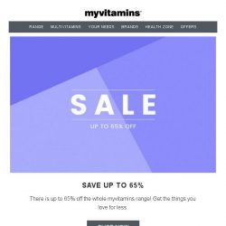 [MyVitamins] Last Chance   Brands Sale   3 For 2