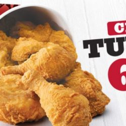 KFC: Chicken Tuesday is Back with 6pcs Chicken at only $9!