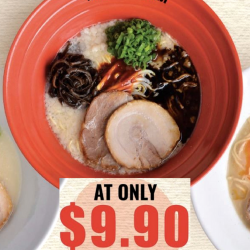 Ippudo: 3rd Anniversary Offer - Signature Ramen at only $9.90+++ at Shaw Centre!