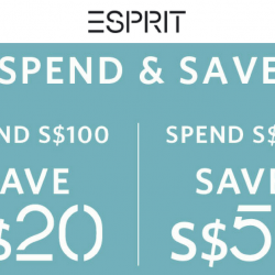 Esprit: Save Up to $50 when You Shop Online and In Stores!