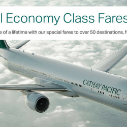 Cathay Pacific Airways: Special Economy Class Fares to Bangkok, Hong Kong, Taiwan, China, Europe & More from SGD258 All-In!