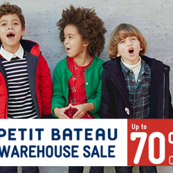 Petit Bateau: Warehouse Sale with Up to 70% OFF Quality Children Clothes!
