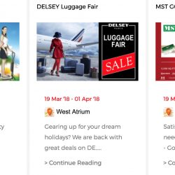 Suntec City: Events Happening This Week - AIBI Fitness, Delsey Luggage, MST Golf Fair!