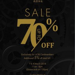 Cortina Watch: Annual Private Sale with Up to 70% OFF Luxury Watches