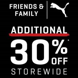 PUMA: Friends & Family Sale with Additional 30% OFF Storewide