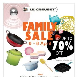 [LeCreuset] Le Creuset Singapore Family Sales 06 to 08 April'18 - up to 70% off