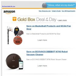[Amazon] Save on Basketball Products and NCAA Fan Gear