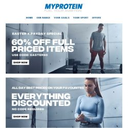 [MyProtein] Easter Deals End Today, Shop Now!