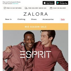 [Zalora] Snap it up: Up to 50% off ESPRIT!