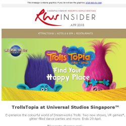 [Resorts World Sentosa] Don't miss the DreamWorks Trolls