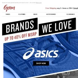 [6pm] Brands We Love: ASICS, New Balance & More!
