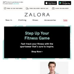 [Zalora] Sports Up to 30% Off: Accept all challenges