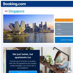 [Booking.com] Deals in Singapore from S$ 35