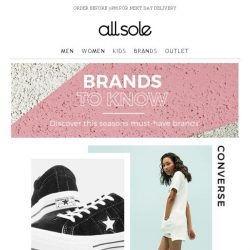 [Allsole] The Brands To Know