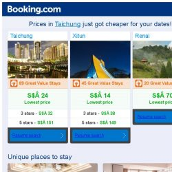[Booking.com] Prices in Taichung are dropping for your dates!