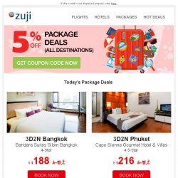 [Zuji] BQ.sg, ZUJI Coupon Code: 5% OFF Package Deals