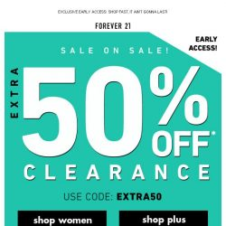 [FOREVER 21] WHAT ⁉️ EXTRA 50% OFF CLEARANCE!