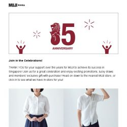 [Muji] MUJI SG Celebrates 15th Anniversary!