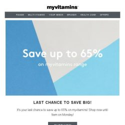[MyVitamins] FREE UFIT + Up To 65% Off