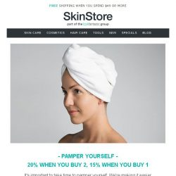 [SkinStore] Take Time to Pamper Yourself