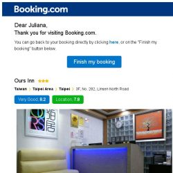 [Booking.com] Ours Inn – are you still interested in staying?