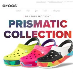 [Crocs Singapore] Crocband™ Prismatic Collection: more graphics, more colours, more fun!