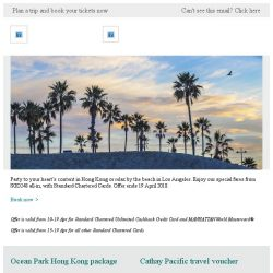 [Cathay Pacific Airways] Special fares for Standard Chartered Cardholders from SGD248 all-in