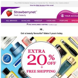 [StrawberryNet] Extra 20% Off on Beauty is just the Beginning