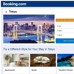 [Booking.com] Deals in Tokyo from S$ 71
