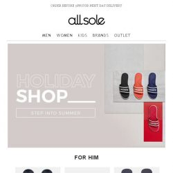 [Allsole] Step into summer with The Holiday Shop