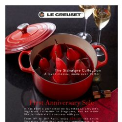 [LeCreuset] Le Creuset Singapore Celebrates the 1st Launch Anniversary of the Signature Collection with 50% off