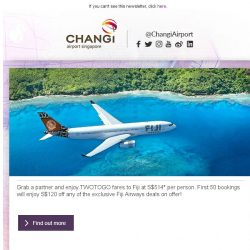 [Changi Airport] , would you like to win a holiday to Fiji?