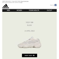 [Adidas] The new YEEZY 500 BLUSH out today.